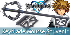 Kingdom Hearts Keyblade Souvenir Perdu Sora Mousse Epee