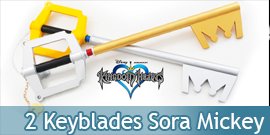 Pack 2 Keyblades en Mousse...