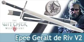 The Witcher Epee Geralt de Riv Replique Wolf Sabre V2