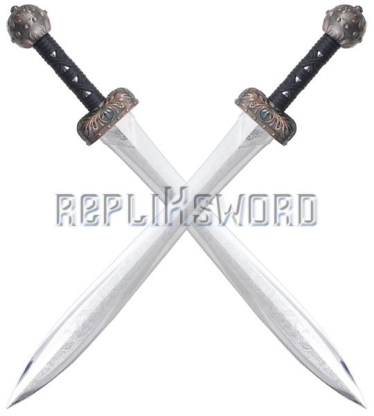 RKS Diffusion Epee Glaive Gladiateur Tout en Polypropylene Couleur Argent Entrainement Combat 84cm Epee de Frappe Haut de Gamme Haute Qualit/é