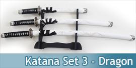 Katana Set 3 - White Dragon...