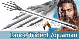 Aquaman Trident Lance Acier...