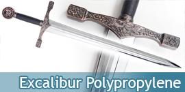 Epee Medievale Excalibur en Polypropylene Argent Epee Entrainement Combat