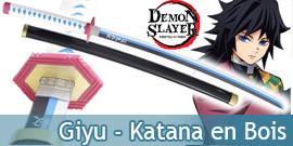 Demon Slayer Katana en Bois...