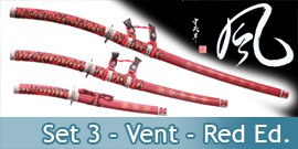 Katana Set 3 - Vent Red edition