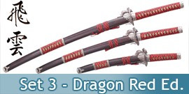 Katana Set 3 - Dragon Red Edition