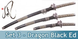 Katana Set 3 - Dragon Black Edition