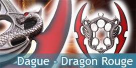 Dague Fantasy Dragon Rouge