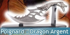 Dague Dragon Argent