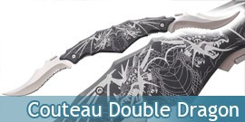 Couteau Double Lame Dragon