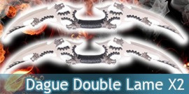 Dague Double Lame Dragon X2 Fantasy