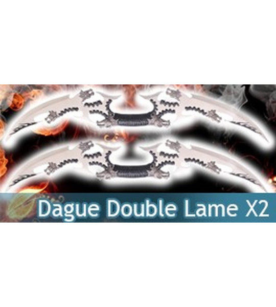 Dague Double Lame Dragon X2