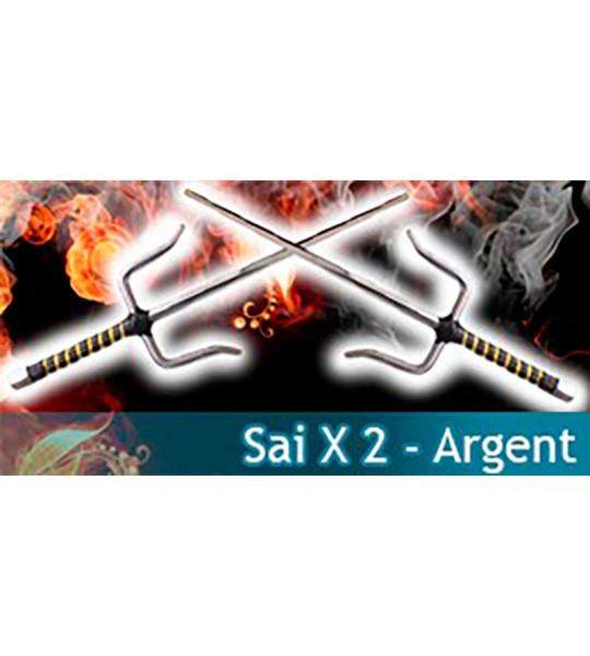 Sai Set 2 - Argent