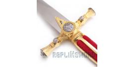 Dague maçonnique rouge