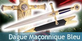 Dague maçonnique bleu