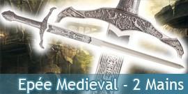 Epée médiévale à 2 mains