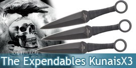 The Expendables Kunai X3