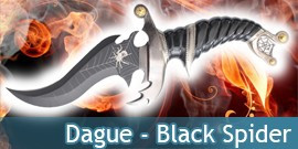 Dague Black Spider