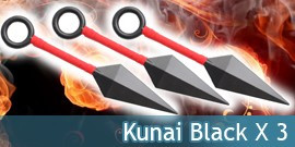 Kunai Black X3