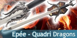 Epée Quadri Dragon