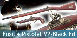 Fusil + Pistolet V2 Balck Edition