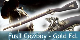 Fusil Cowboy Gold Edition