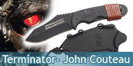 Terminator - John Connor Couteau - Black Edition