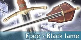 Epée Médievale - Black lame
