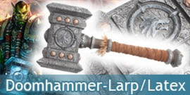 Doomhammer Marteau du Destin Latex Warcraft