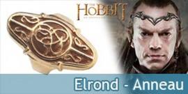 Elrond - anneau argent plaque or