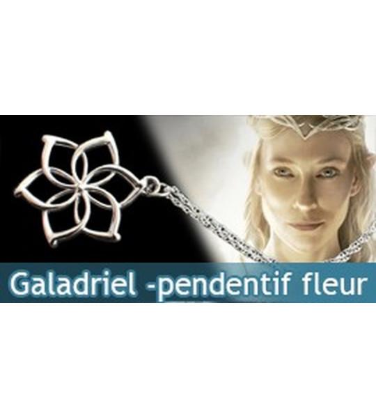 Galadriel pendentif fleur et chaine 45cm