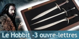 Le Hobbit Set de 3 Ouvre-Lettres Noble Collection