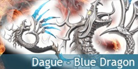 Dague Blue Dragon