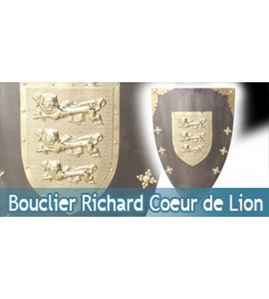 bouclier m dieval bouclier de richard c ur de lion. Black Bedroom Furniture Sets. Home Design Ideas