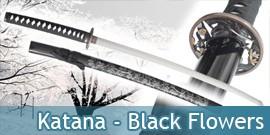 Katana - Black Flowers