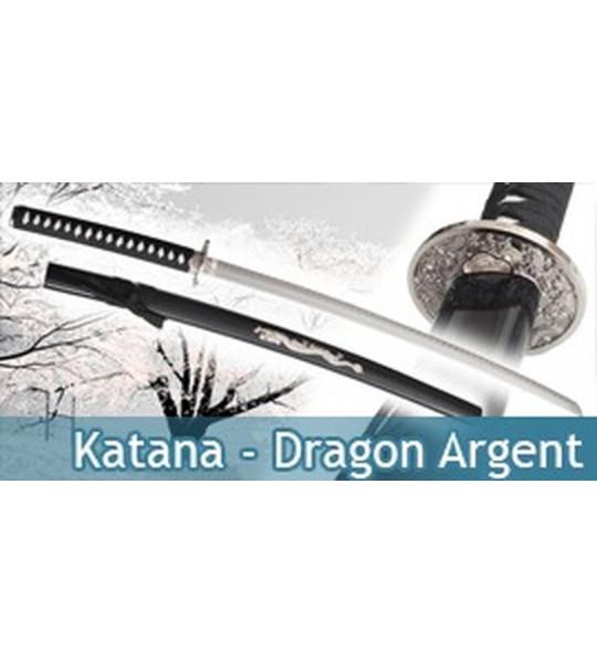 Katana - Dragon Argent