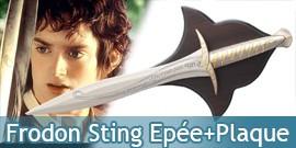 Frodon - Epée Sting + Plaque