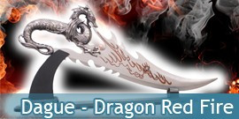 Dague - Dragon Red Fire / Poignard Fantasy