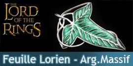 Le Seigneur des Anneaux - Feuille de la Lorien - Broche - Argent Massif Bijoux