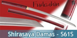 Fudoshin - Shirasaya Rouge Forgé Damas - S61S