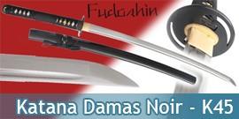 Fudoshin - Katana Forgé Noir Damas - K45