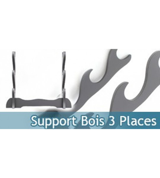 Support bois Katana - 3 places