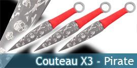 Couteau de Lancer X3 - Pirate