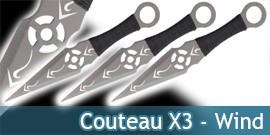 Couteau de Lancer X3 - Wind- TACL04