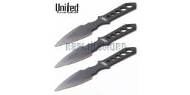 Couteaux de Lancer X3 - Lightning Bolt - UC2904