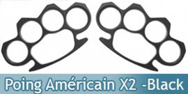 Poings Américains x2 - Black
