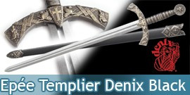 Epée Templier Black Edition - Denix - E4163N