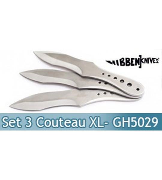 Set 3 Couteaux de Lancer XL - Gil Hibben - GH5029