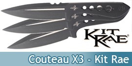 Couteau X3 Kit Rae - KR0061