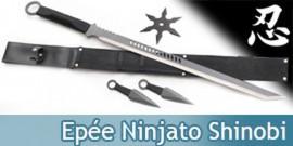 Epée Ninjato Shinobi - 2 Kunais + 1 Shuriken
